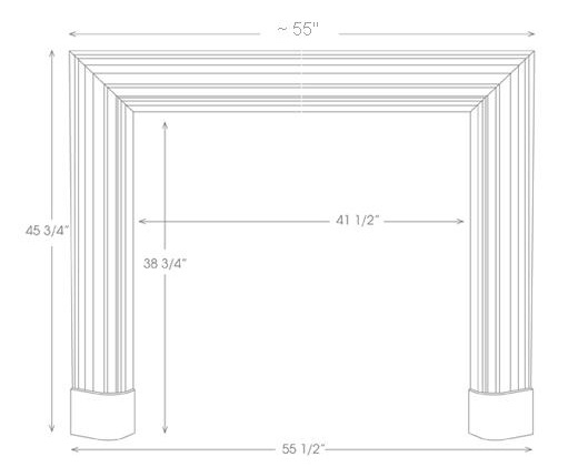 Bolection Mantel Illustration Diagram