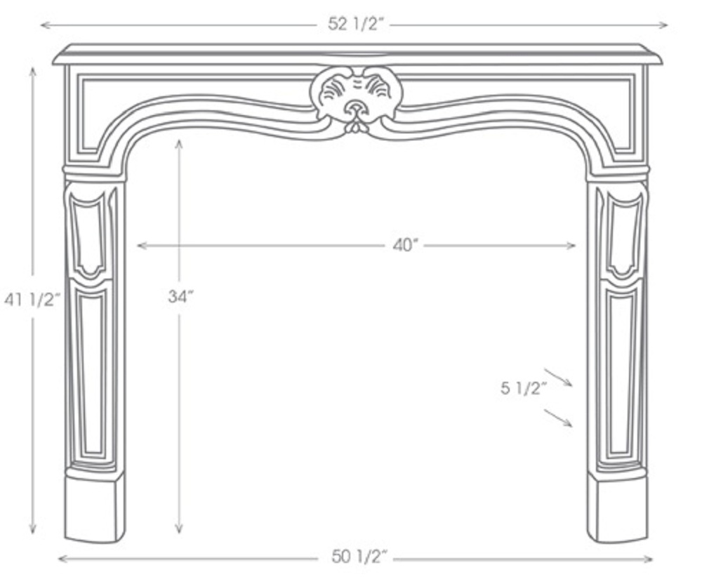 View Illustrations of our marble mantels